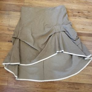 Lux by Urban Outfitters Tan Corduroy Skirt